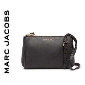 NWT Marc Jacobs genuine leather crossbody black
